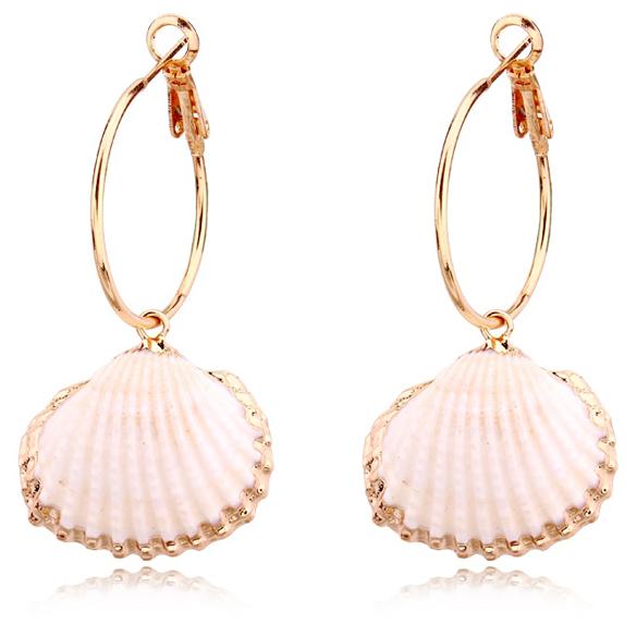 LGT Jewels damesoorbellen met Open Roze Schelp
