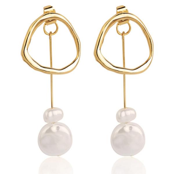 LGT Jewels Damesoorbellen met Ring en Parel