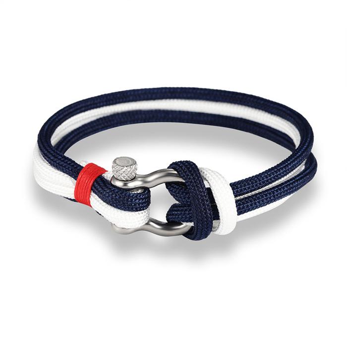 LGT Jewels Marine armband Double Navy Blue White