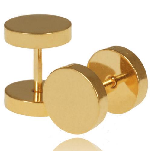 LGT Jewels Stud oorbellen Goud 8mm