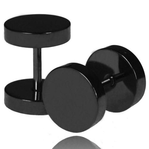 LGT Jewels Stud oorbellen zwart 14mm