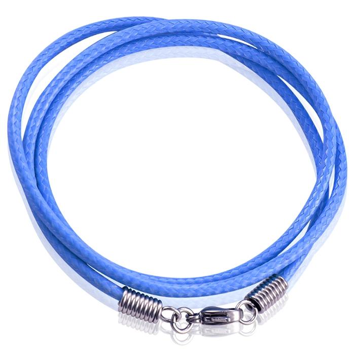 LGT Jewels waxkoord ketting Blauw- 2.5mm-55cm