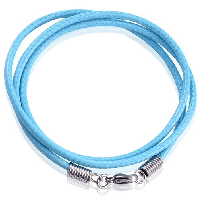 LGT Jewels waxkoord ketting Lichtblauw - 2.5mm-65cm