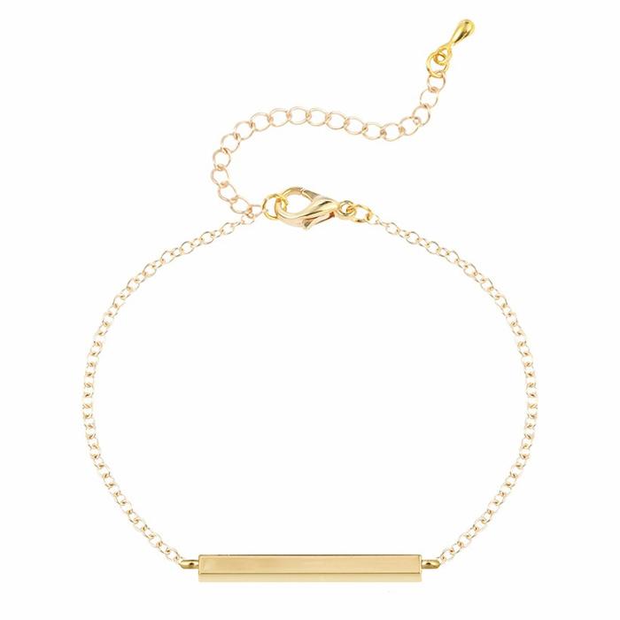 LGT JWLS Dames Armband Golden Bar Goud