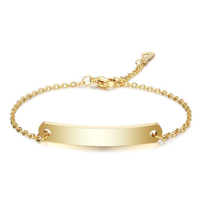 LGT JWLS Dames Armband Naamplaat Goud