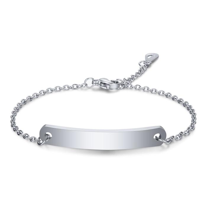 LGT JWLS Dames Armband Naamplaat Zilver