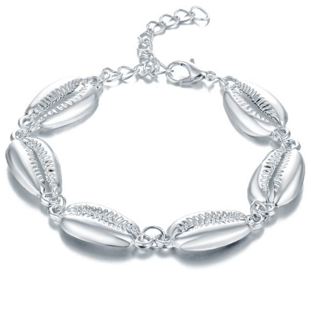 LGT JWLS Dames Armband Zilveren Schelpen Zilver