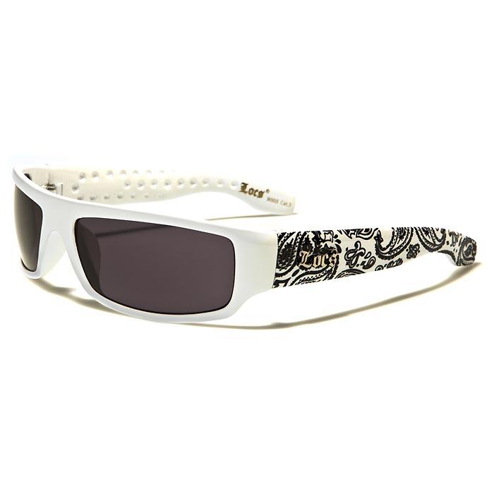 Locs heren zonnebril White Black Ornament LOC9003