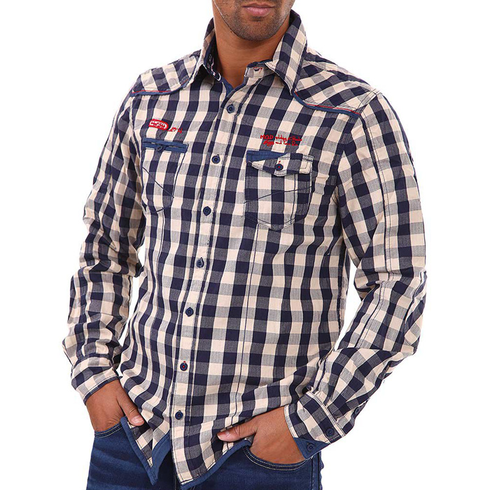M.O.D heren overhemd Dirty check