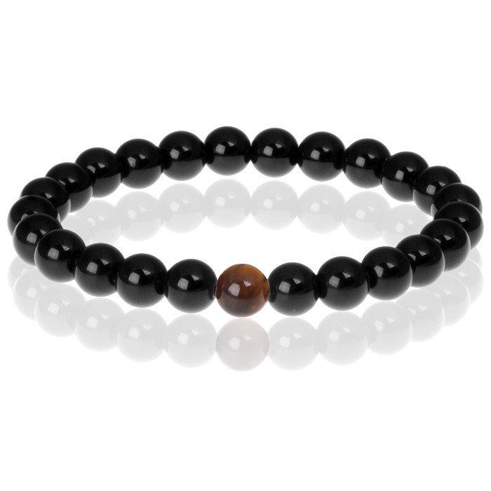 Memphis kralen armband Black Onyx Natural Stone