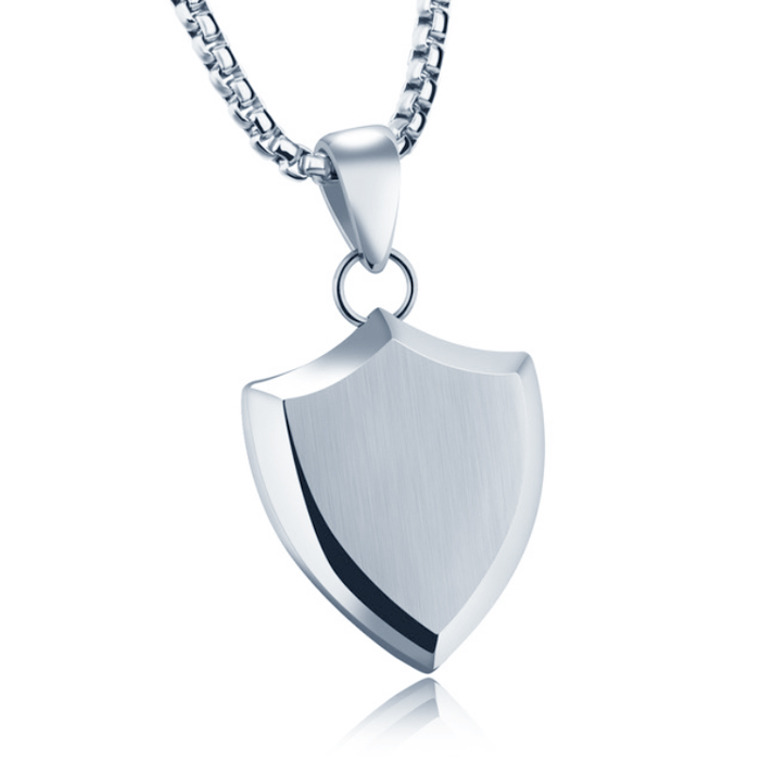 Mendes heren ketting met hanger Silver Shield