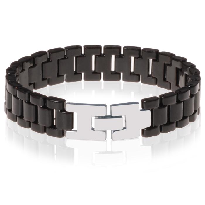 Mendes keramische heren armband Zwart