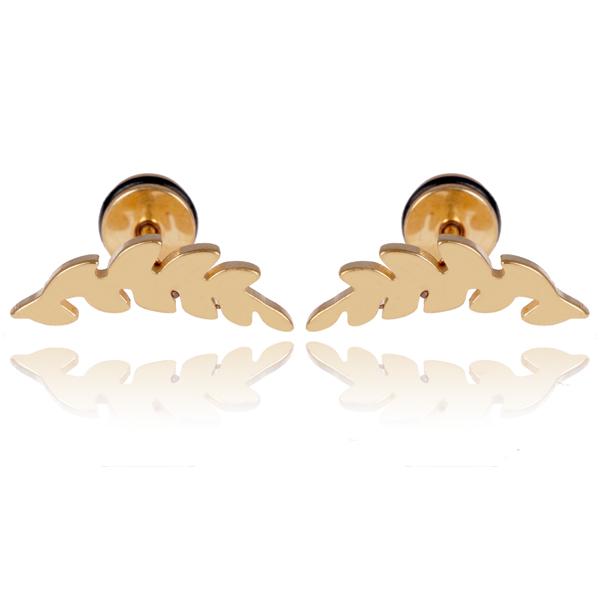 Mendes Leaf Stud oorbellen Gold