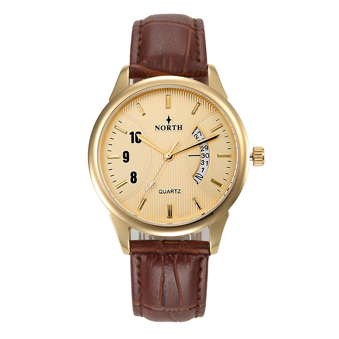 North heren horloge Classic Bruin Goud