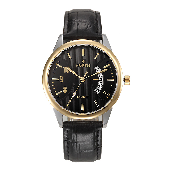 North heren horloge Classic Zwart Goud Zilver