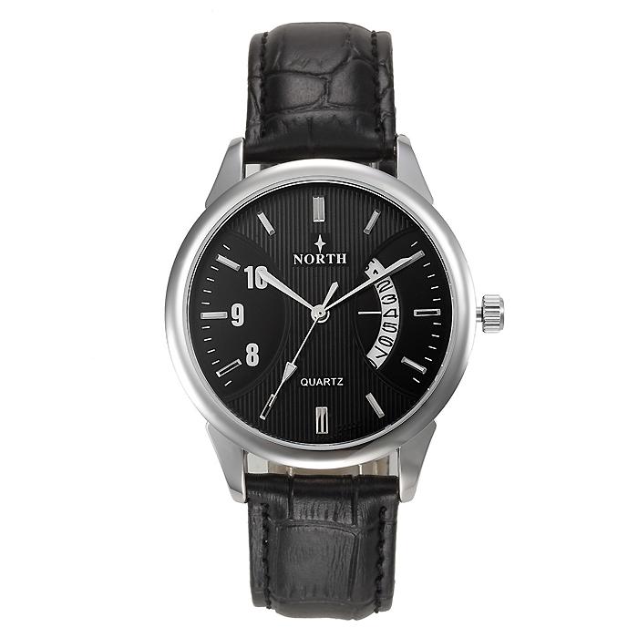 North heren horloge Classic Zwart Zilver