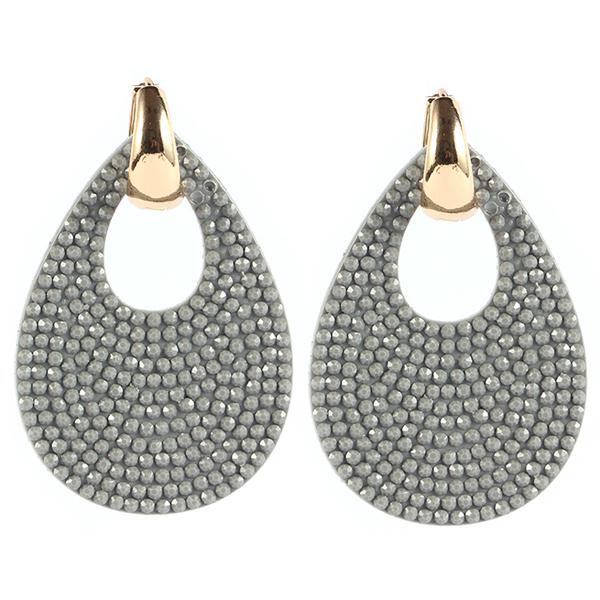 Ovale oorbellen Cilla Jewels Goud Grijs