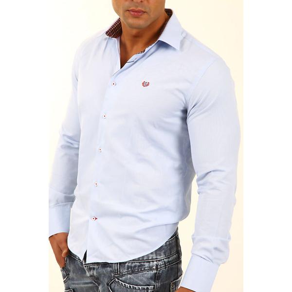 Overhemd Cipo & Baxx Slim-fit Blauw