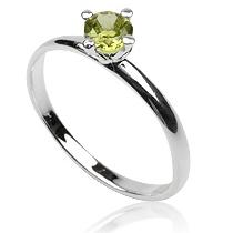 Zilveren ring Peridot