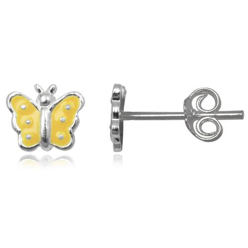 Kinder oorbellen 925 zilver Butterfly