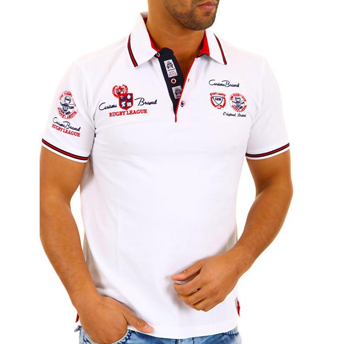 Polo Shirt Carisma korte mouwen Wit