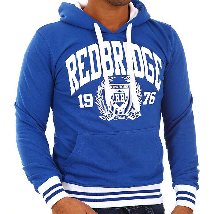 Red Bridge Hoodie Blue