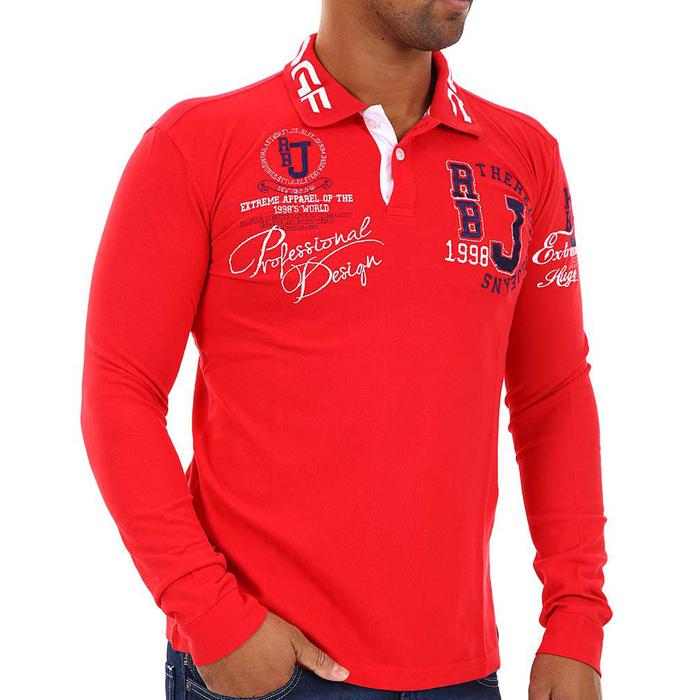 Red Bridge polo shirt long sleeved Rood