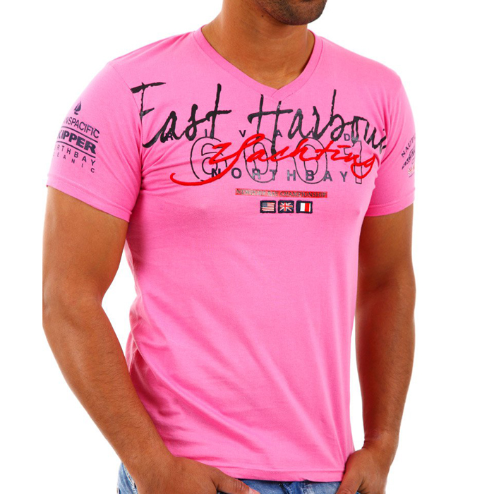 Rivaldi T-shirt V-hals Roze
