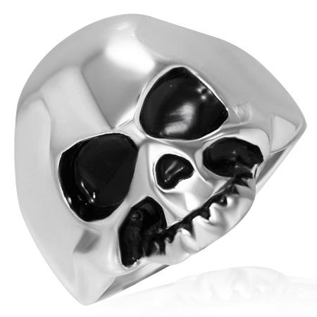 RVS heren ring Ghost Skull