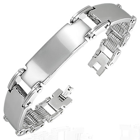 RVS armband Engravable Watch-Style