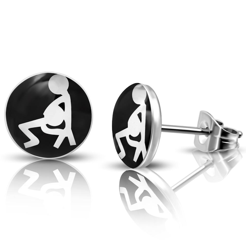 RVS heren oorbellen Sexuality Symbol 7mm