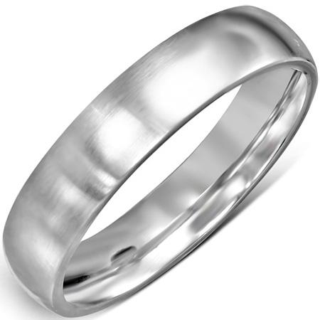 RVS heren ring Engravable Matte Finish Comfort Fit