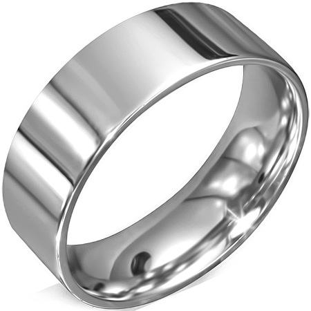 RVS heren ring Engravable Matte Finish Comfort Fit Flat Band