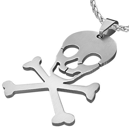 RVS kettinghanger Pirate Skull Crossbones