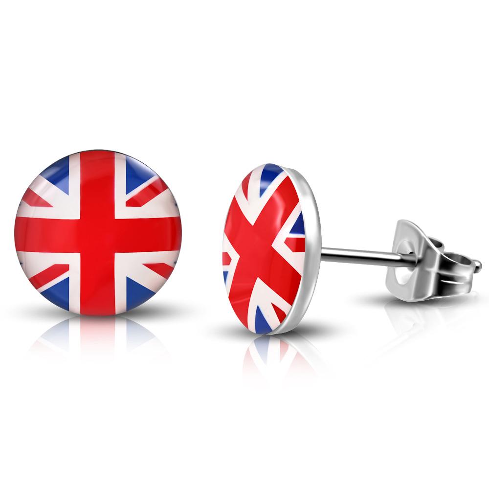 RVS oorbellen Flag Of The United Kingdom 10mm