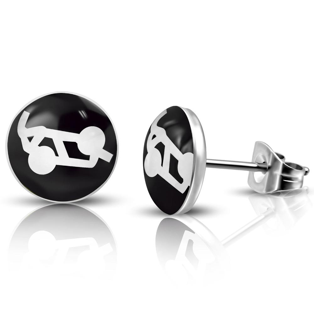 RVS oorbellen Sexuality Symbol Sixty Nine 7mm