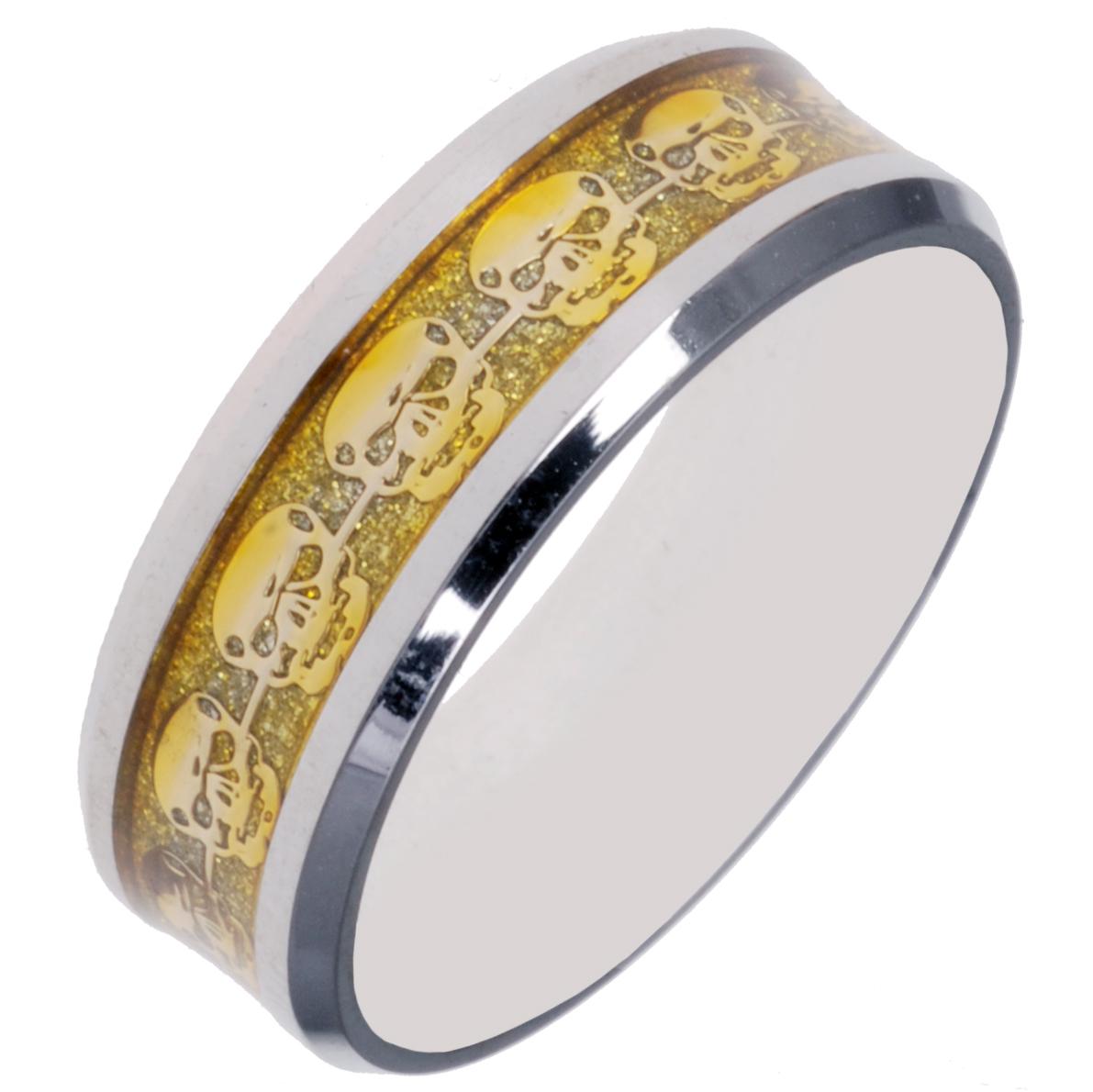 RVS schedel ring Zilver Goud 21.5mm