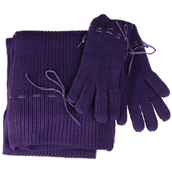 s.Oliver sjaal en handschoenen Giftset Paars