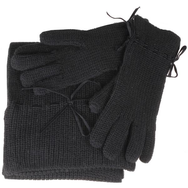 s Oliver sjaal en handschoenen Giftset Zwart