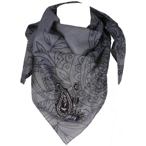 Sarlini driehoek sjaal Grijs