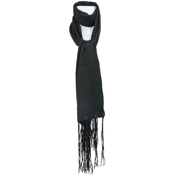 Sarlini fashion sjaal Suede Zwart thumbnail