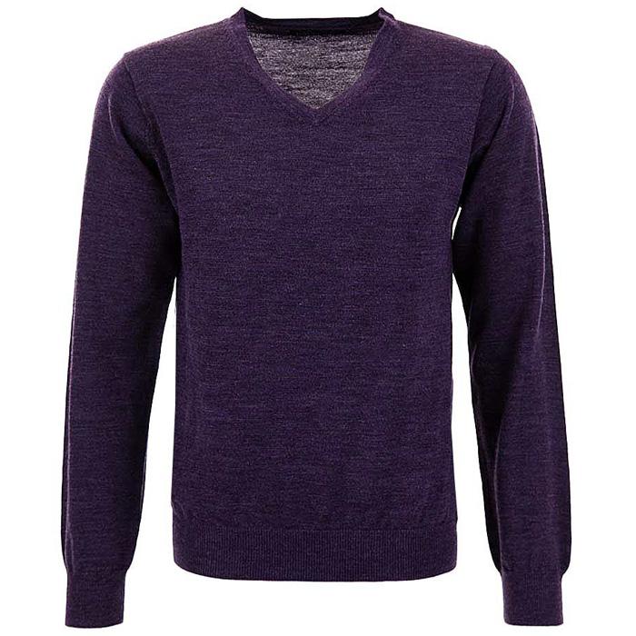 Selected Homme heren trui V-neck Purple