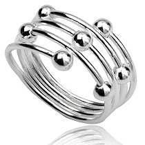 Dames ring 925 zilver Silver Beads