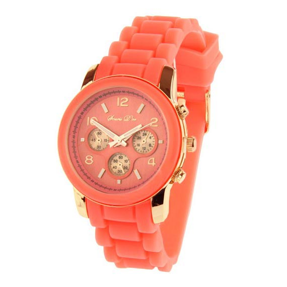 LookingGoodToday, Souris Dor dames horloge Rose Koraal