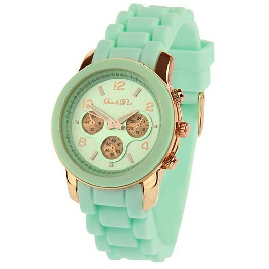LookingGoodToday, Souris Dor dames horloge Rose Mint