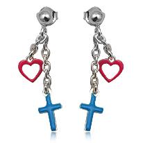 Kinder hanger oorbellen Cross
