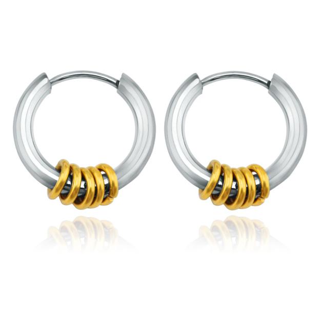 Stalen creolen Flexible Rings Silver Gold-12mm