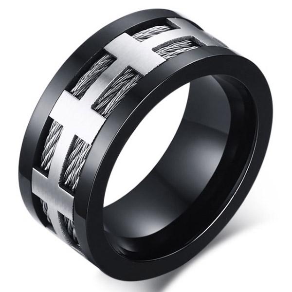Stalen kabel ring Cross 21.5mm
