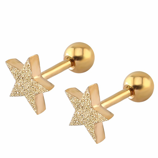 Star Stud dames oorbellen Stardust Rose
