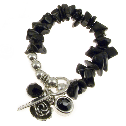 Starfish armband Black Onyx
